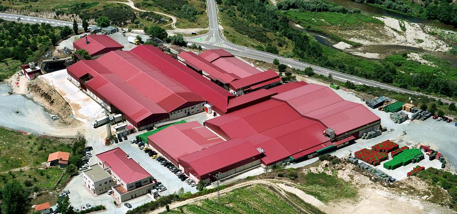 Fábrica e instalaciones de la Agrupación de Cooperativas del Valle del Jerte