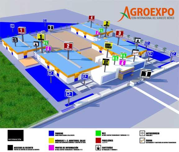 plano agroexpo Feval Badajoz