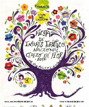 Cartel de la Fiesta de Interés Turístico Nacional Cerezo en Flor Valle del Jerte
