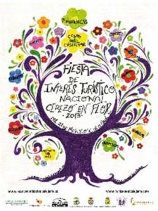 Cartel de las fiestas del cerezo en flor del Valle del Jerte